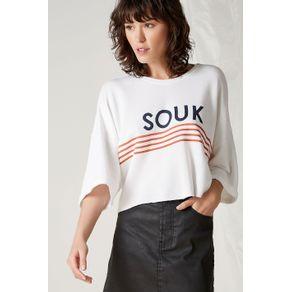 T-Shirt Moleton Souk Off White - M