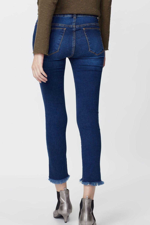 ecb326175 Calça Jeans Skinny Barra Desfiada - lojafyi